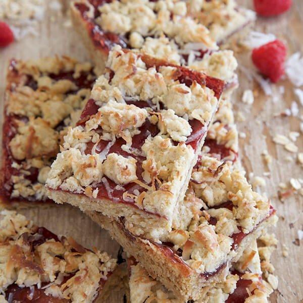Gluten Free Vegan Oatmeal Jam Bars